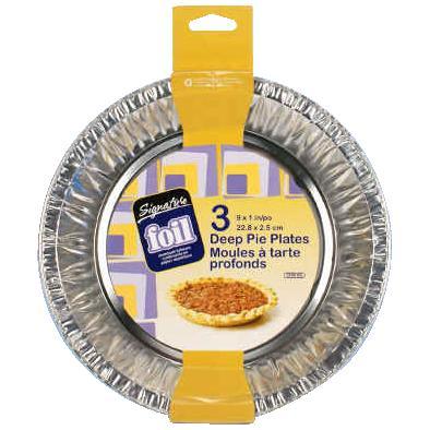 """Ctg Brands 3 Pack 9"""" x 1"""" Foil Pie Plates"""