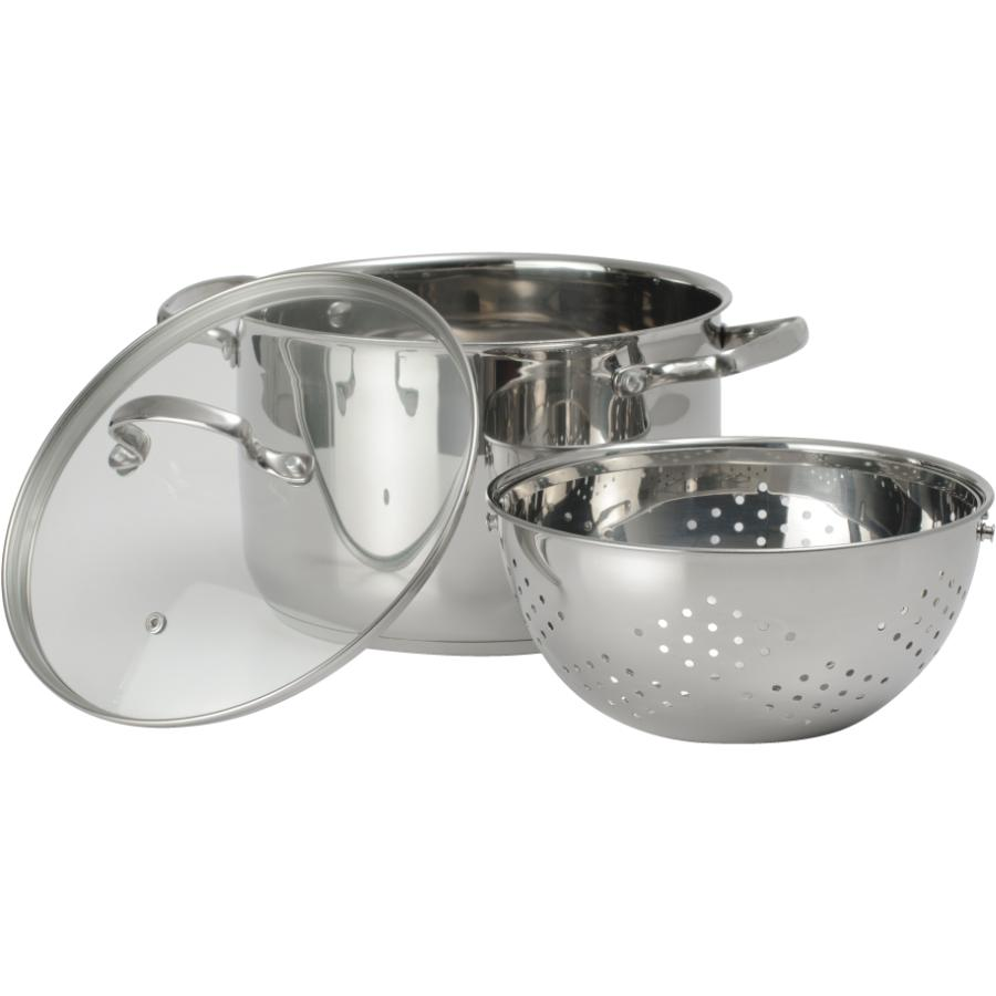 KURAIDORI 6.9 Quart Stainless Steel Pasta Cooker Set, with 360º Colander