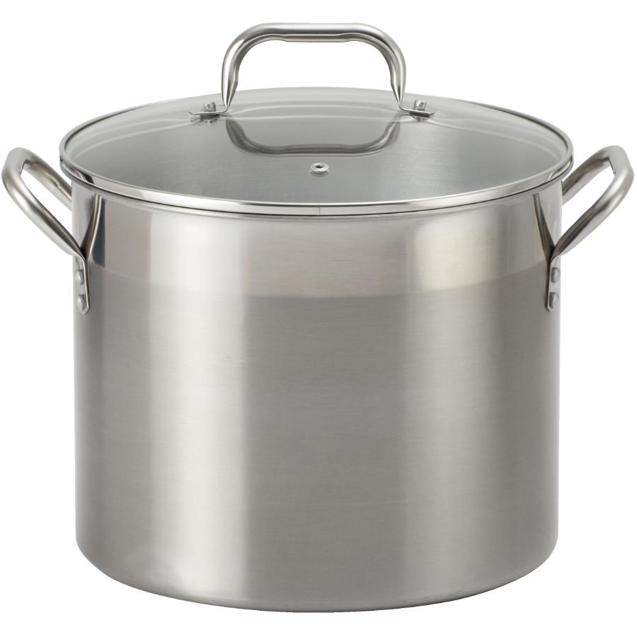 Kitchen Value 12 Quart Stainless Steel Stockpot, with Glass Lid