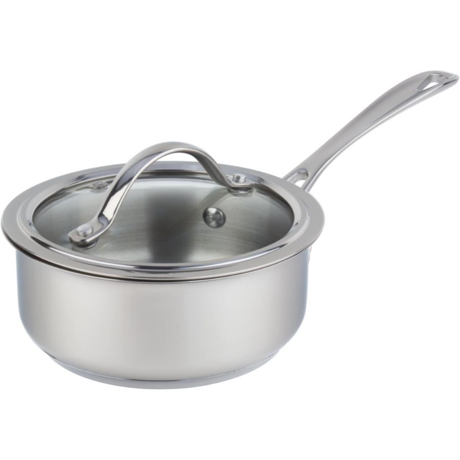 KURAIDORI SELECT 0.8 Quart Stainless Steel Saucepan, with Glass Lid