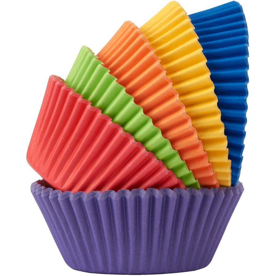 Kuraidori Select 200 Pack Large Rainbow Baking Cups