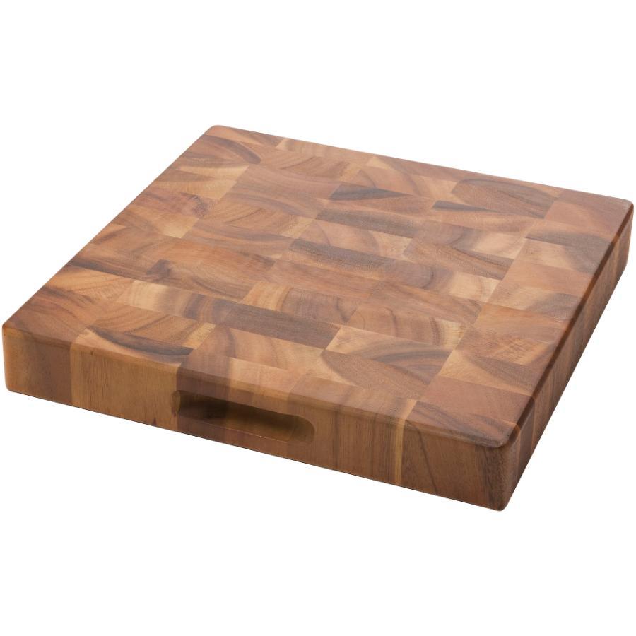 """Kuraidori 13"""" x 2"""" Wood Acacia Chopping Block"""