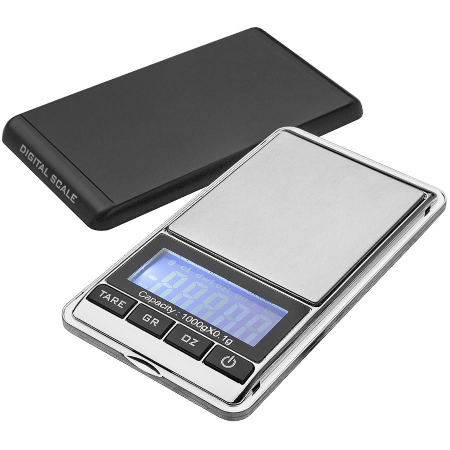 KURAIDORI 1kg Plastic/Stainless Steel Digital Travel Kitchen Scale