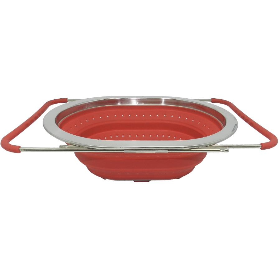 KURAIDORI 3.4L Collapsible Silicone Over the Sink Colander