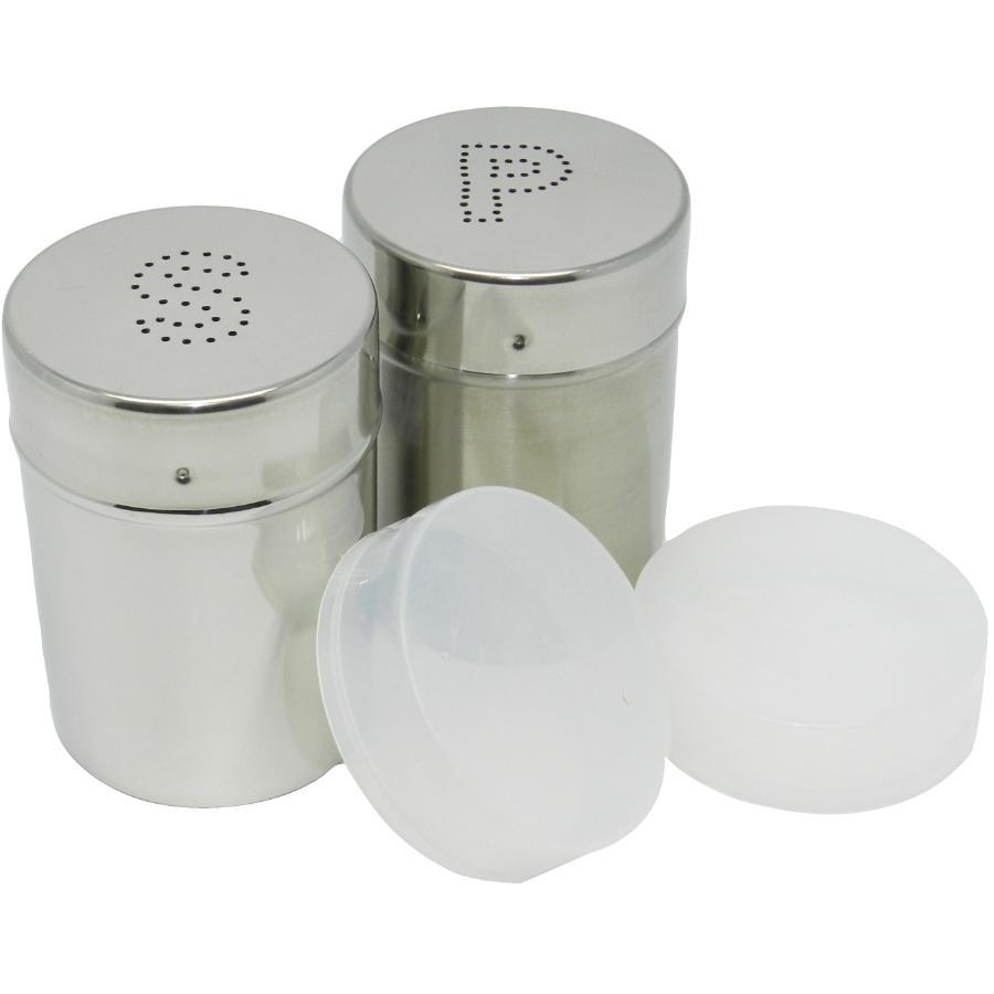 Kuraidori 300ml Stainless Steel Salt and Pepper Shaker Set, with Cover