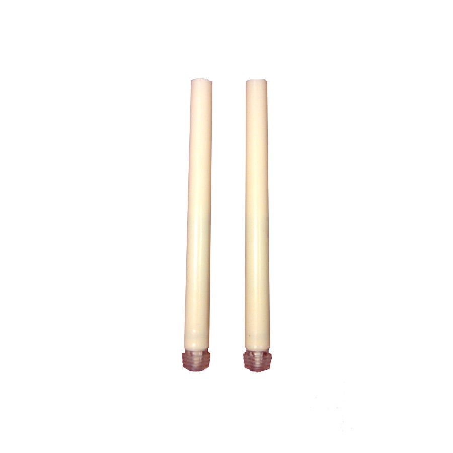 """Inglow 2 Pack 9"""" Cream Battery Operated Dinner Candles"""