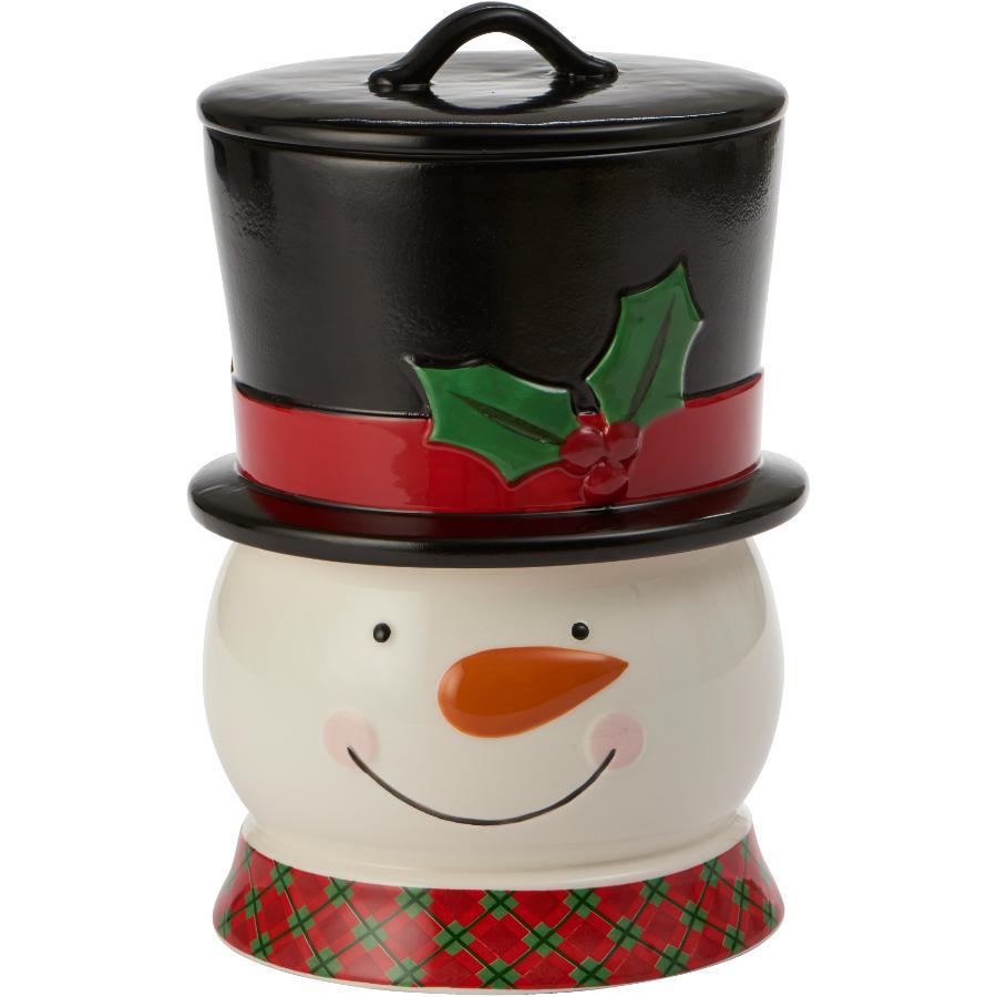 MAISON PLUS 3 Piece Snowman Storage Jar