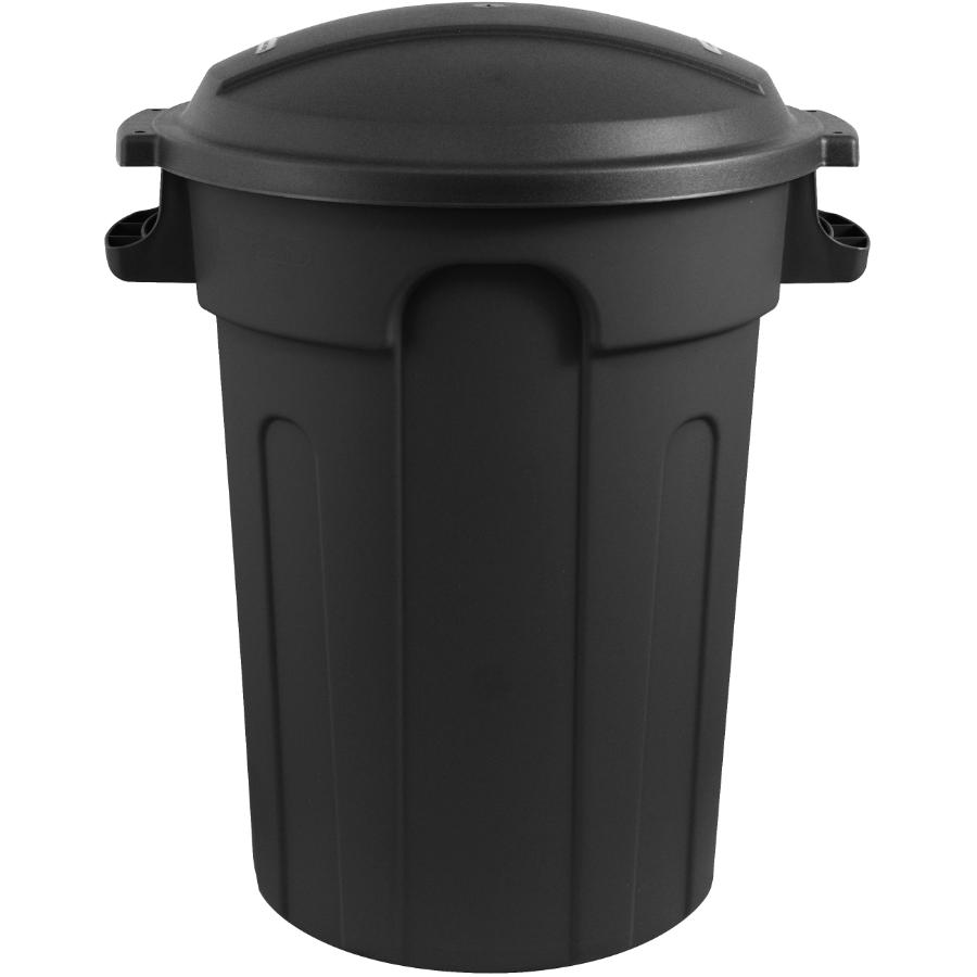 Gracious Living 80L Black Garbage Can