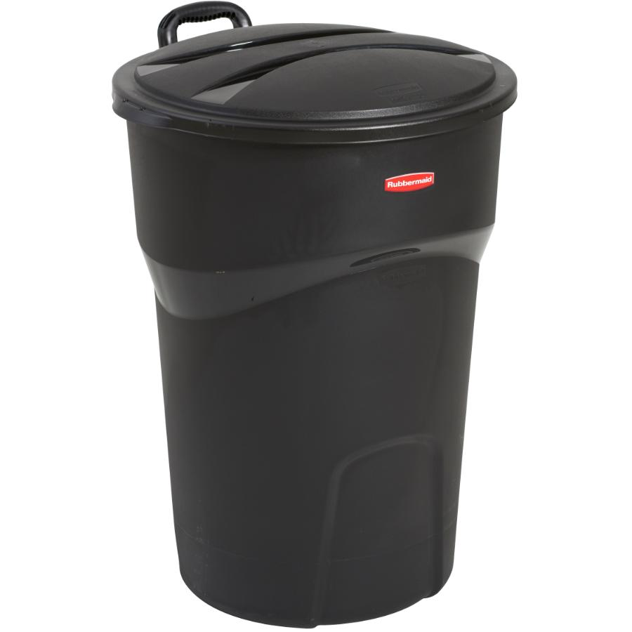 Rubbermaid 121L Black Garbage Can, with Wheels