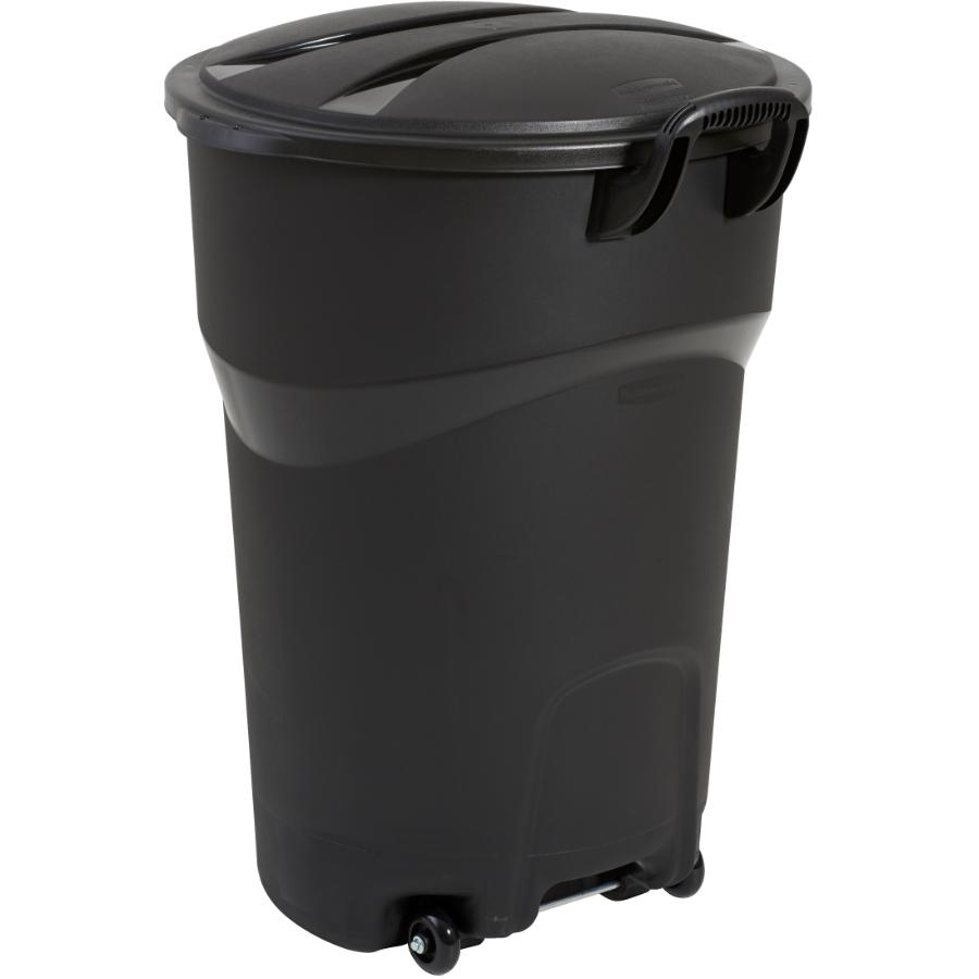 Rubbermaid: 121L Black Garbage Can, with Wheels