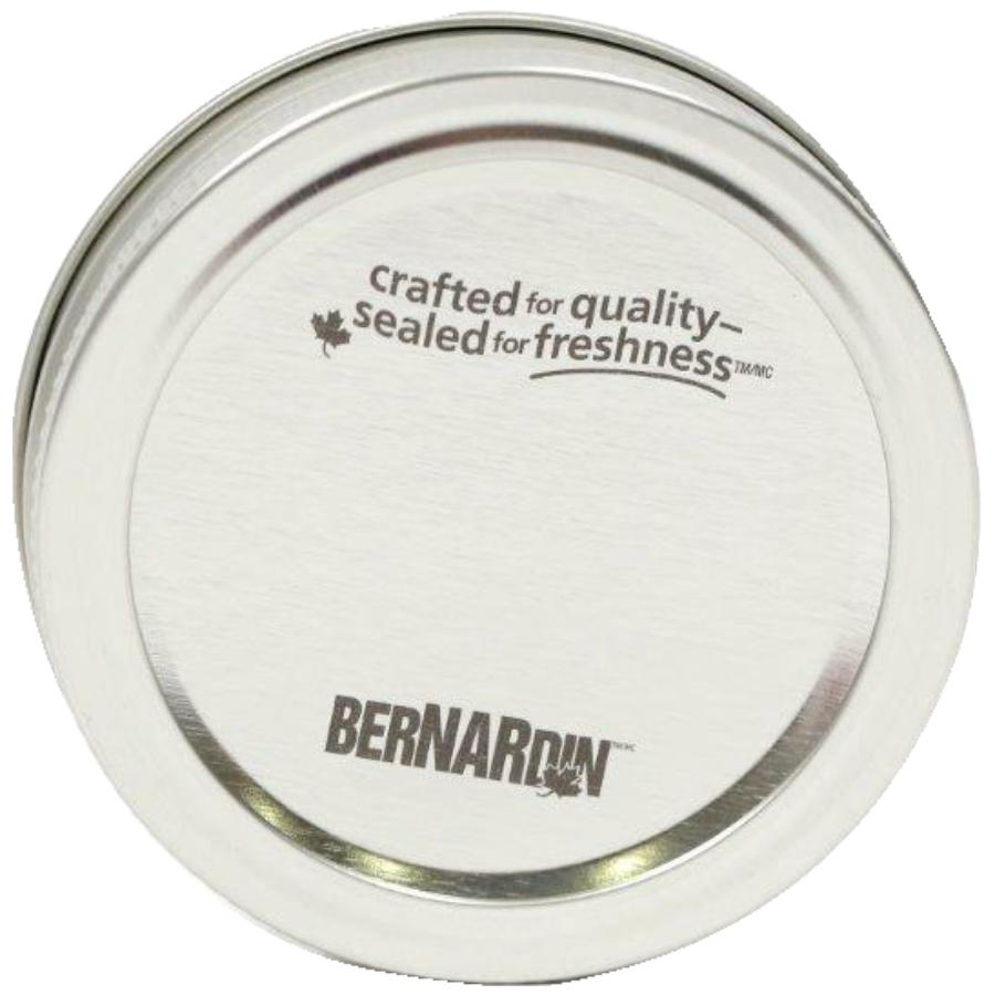 Bernardin 2 Piece 12 Pack Silver Regular Mason Jar Caps