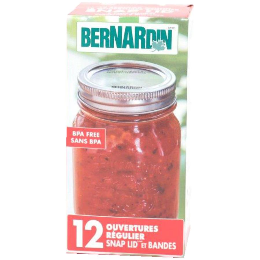 Bernardin: 2 Piece 12 Pack Silver Regular Mason Jar Caps