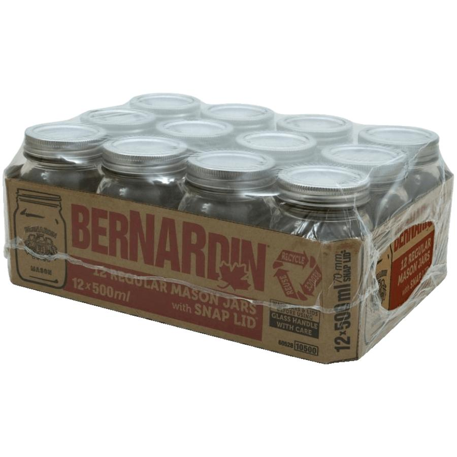 Bernardin: 12 Pack 500mL Regular Mason Jars