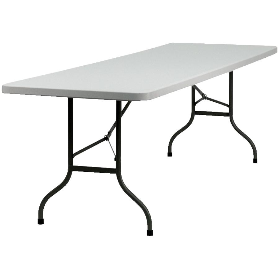 "Enduro 72"" x 30"" Light Grey Plastic Rectangular Folding Table"