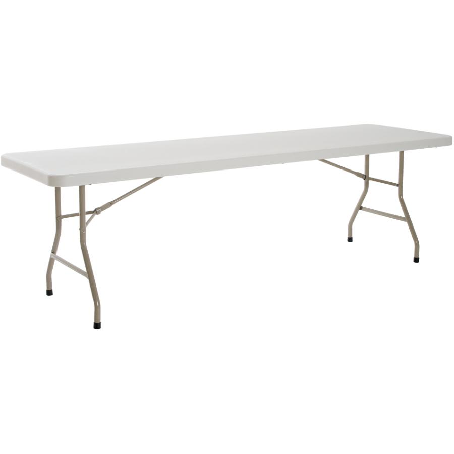 "Enduro 96"" x 30"" White Plastic Rectangular Folding Table"