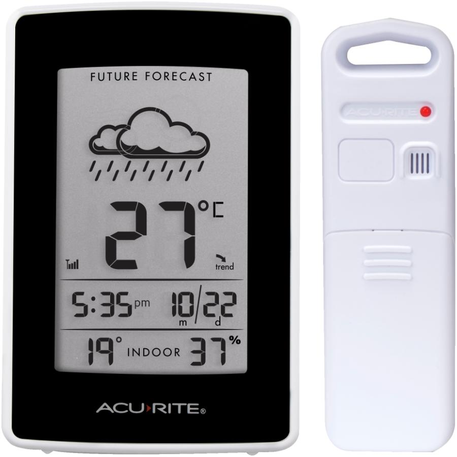 Acu-rite 165' Indoor/Outdoor Wireless Colour Forecaster Thermometer