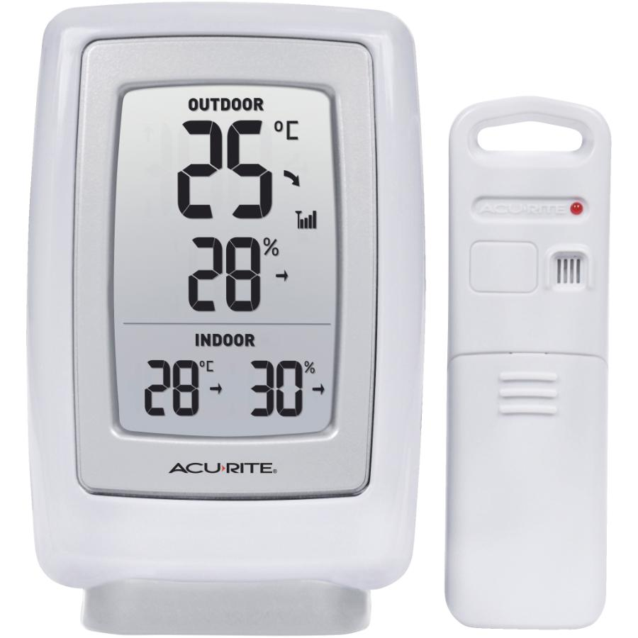 Acu-rite Indoor/Outdoor Wireless Digital Thermometer, with Humidity