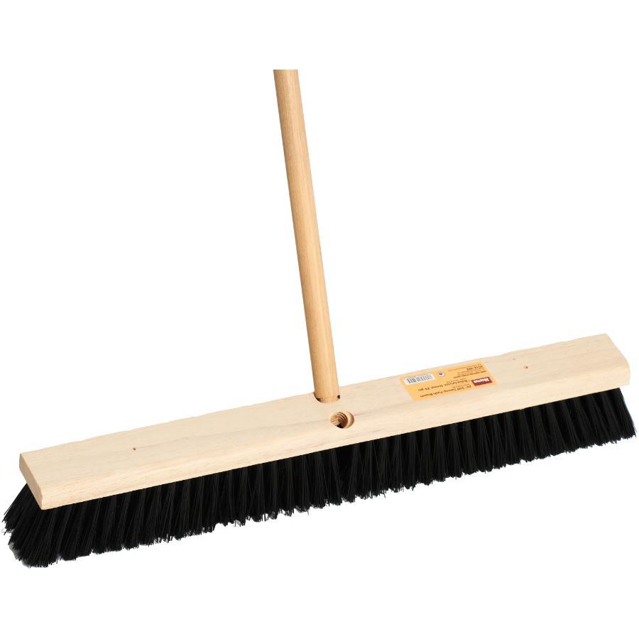 "Homewares 24"" Stiff Push Broom, with 54"" Handle"