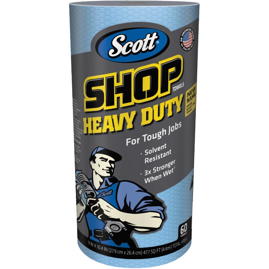 "Scott 60 Sheets/Roll 10.4"" x 11"" Heavy Duty Shop Towels"