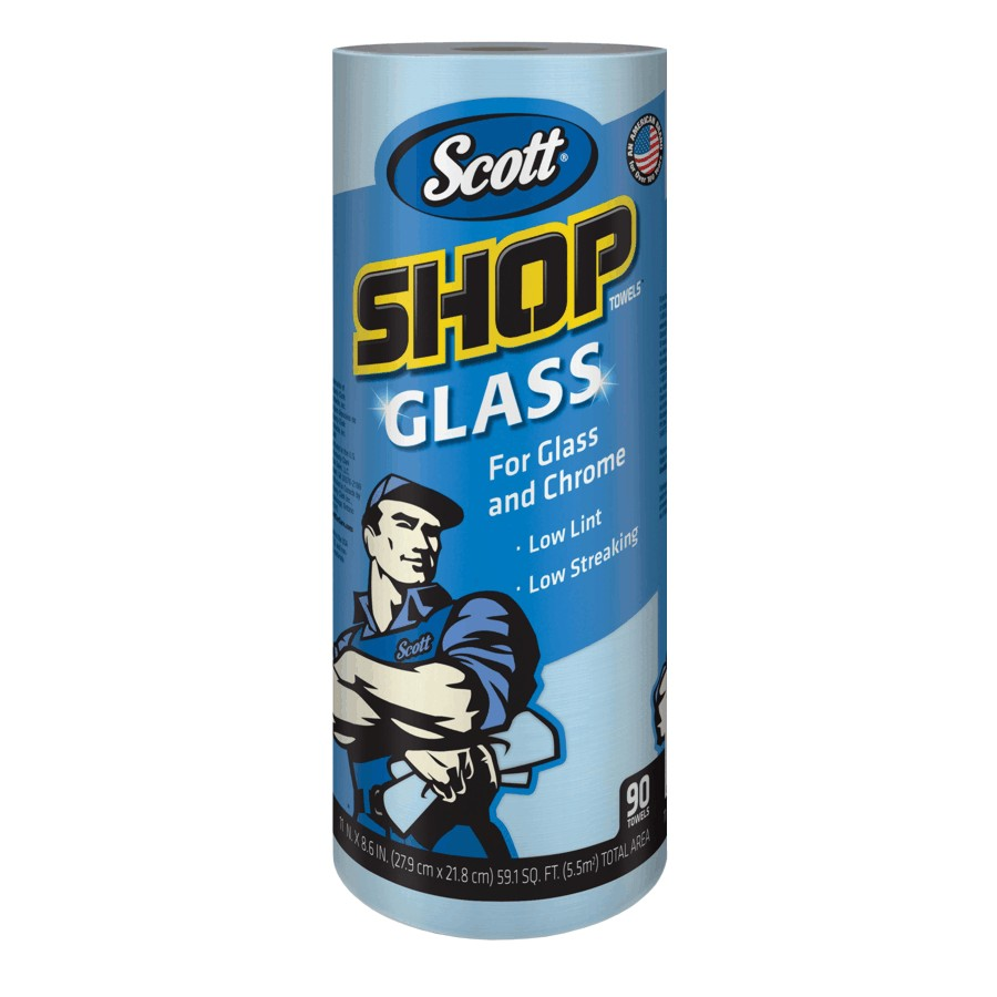 "Scott 90 Pack 8.6"" x 11"" Glass Shop Towels"