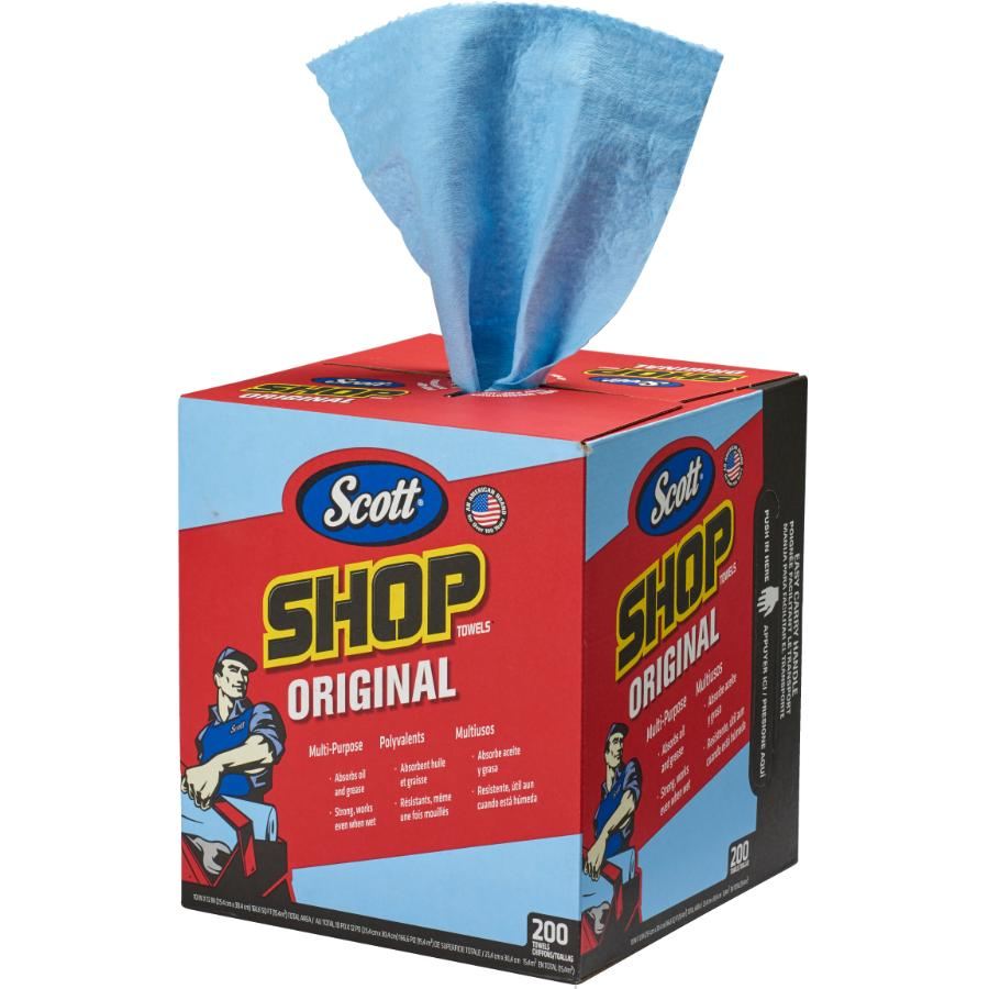 "Scott 200 Pack 10"" x 12"" Blue Shop Towels"