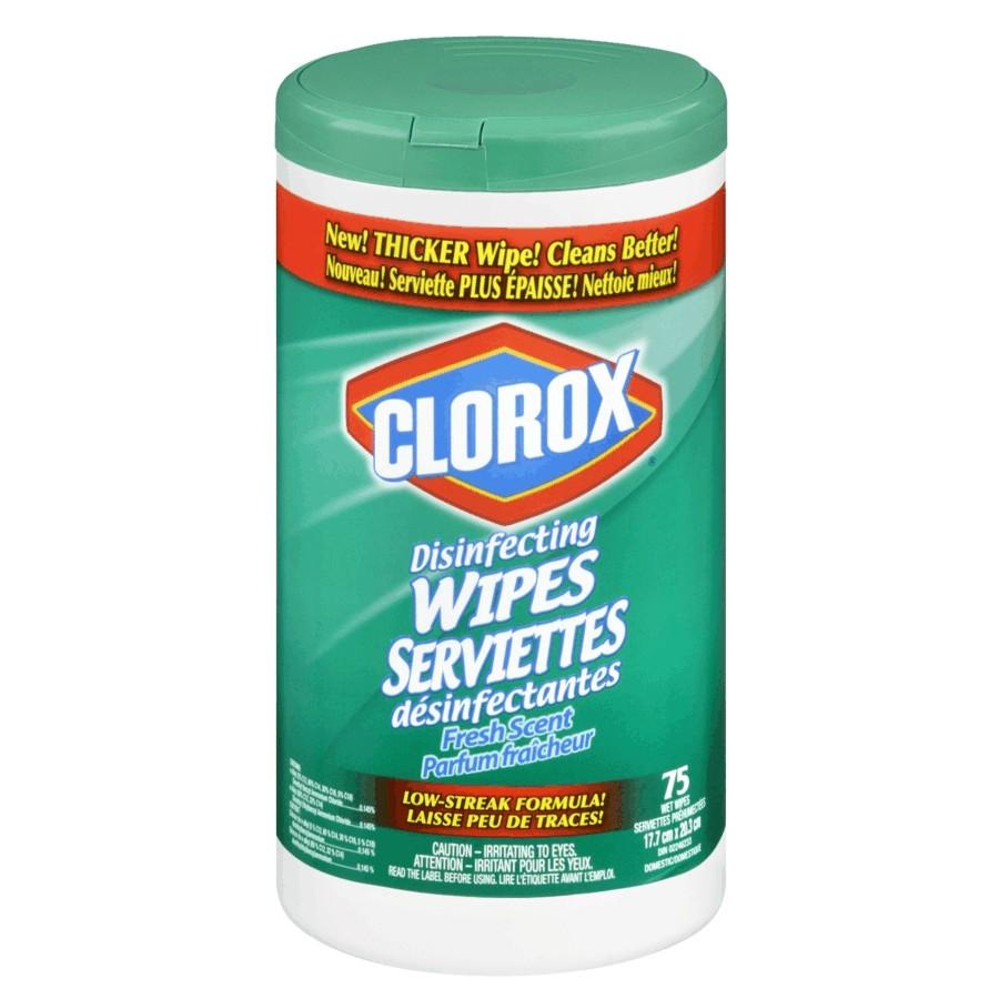 Clorox 75 Pack Fresh Disinfecting Wipes