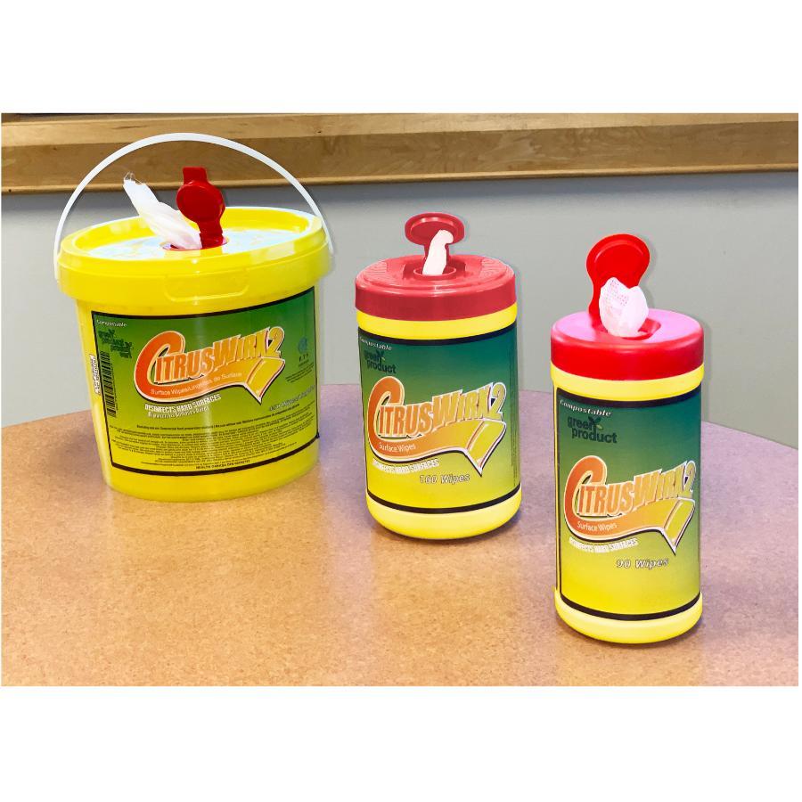 Citruswirx: Disinfecting Wipes - Citrus, 90 Pack