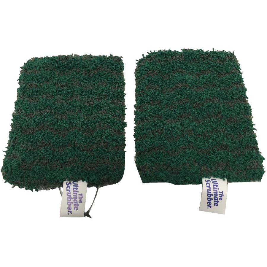 THE ULTIMATE 2 Pack Heavy Duty Microfibre Scrubbers