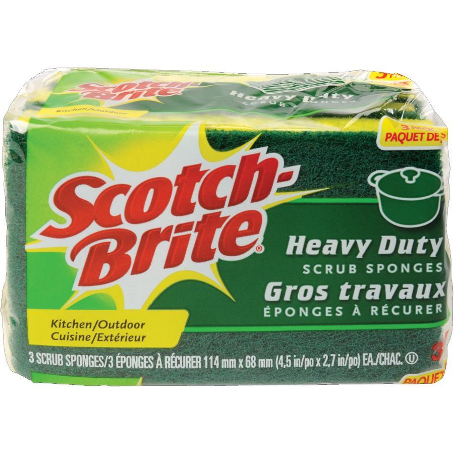 SCOTCH-BRITE 3 Pack Heavy Duty Scrub Sponges