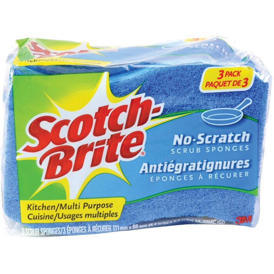 SCOTCH-BRITE 3 Pack No-Scratch Scrub Sponges