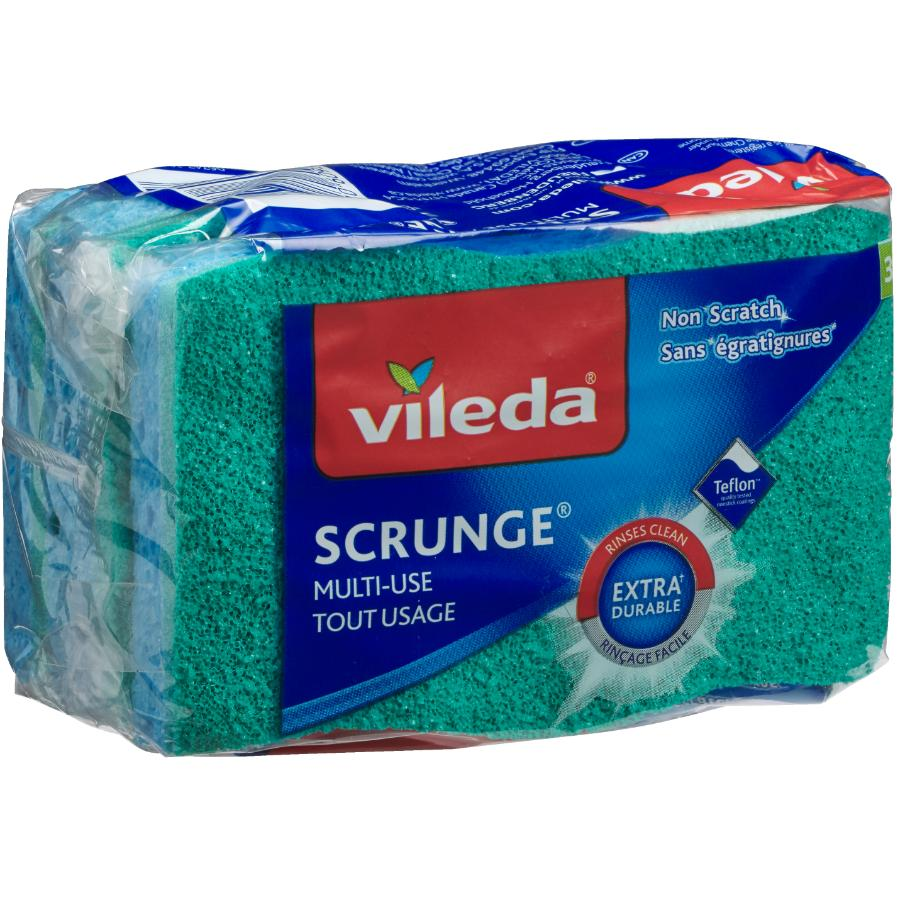 Vileda 3 Pack Multi Use Scrunge Scrub Sponge