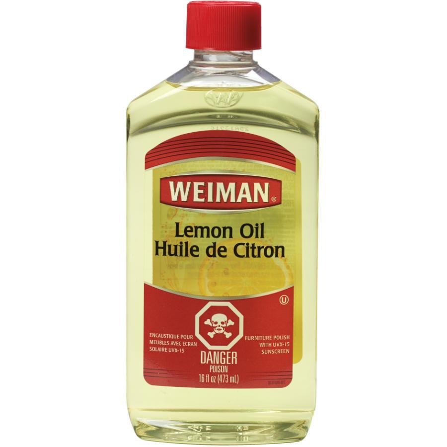 Weiman 16oz Lemon Oil Furniture Polish, with Sunscreen