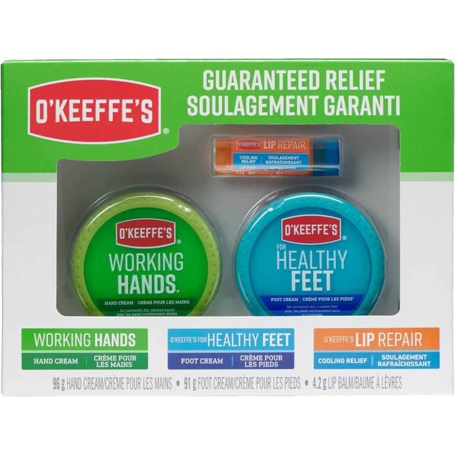 O'keeffe's: 3 Piece Value Pack Working Hands, Feet Repair, Lip Repair Creams