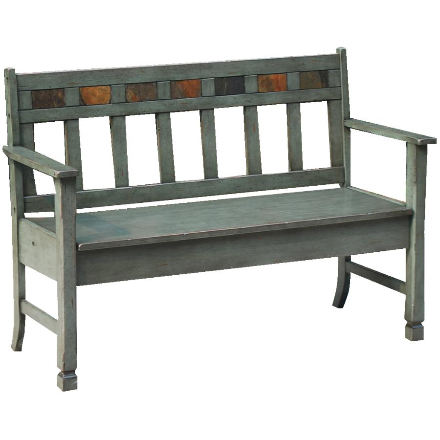 SUNNY DESIGNS Green Santa Fe Storage Bench