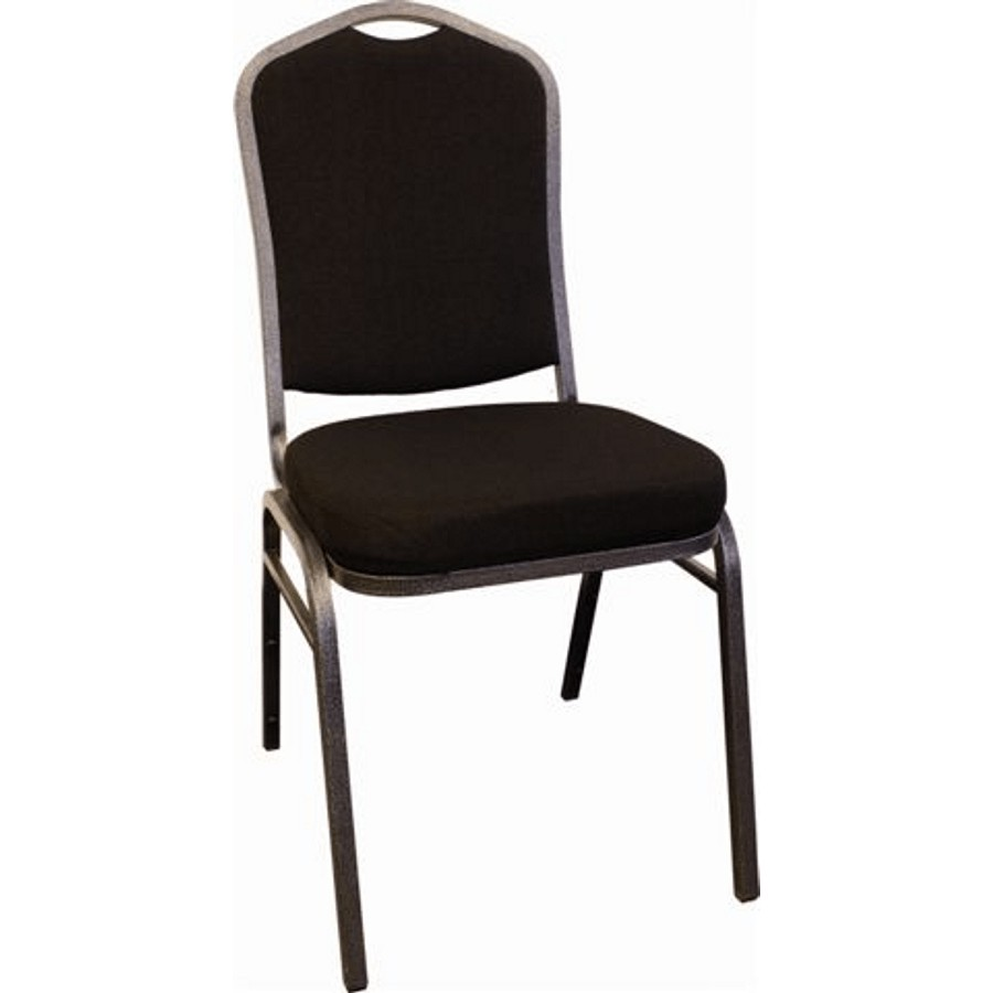 Canergo Black Fabric Stacking Chair