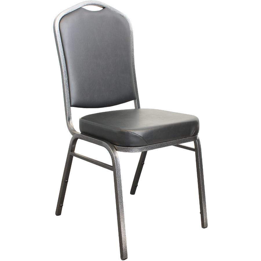 Canergo Black Vinyl Stacking Chair