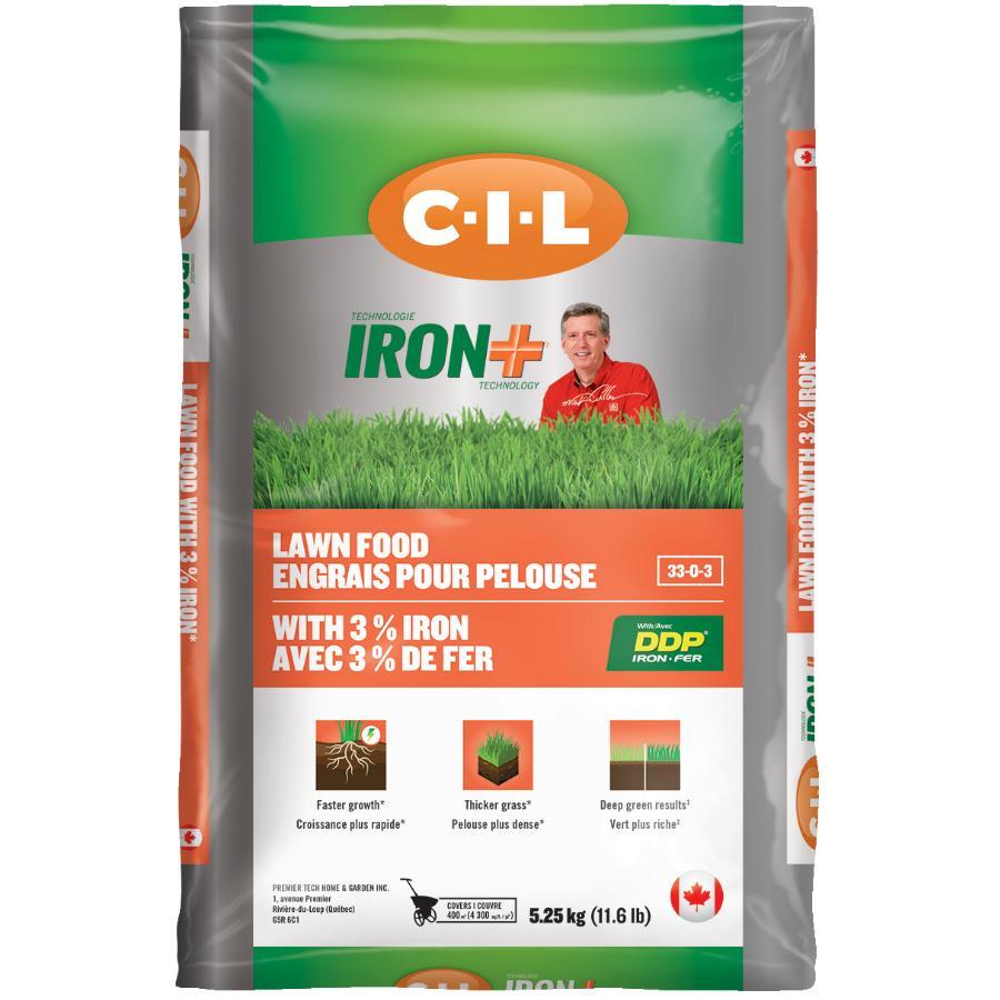 C-i-l: 5.25kg 33-0-3 Iron Plus Lawn Fertilizer