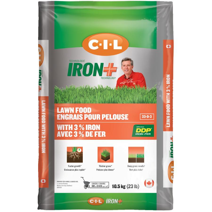C-i-l: 10.5kg 33-0-3 Iron Plus Lawn Fertilizer