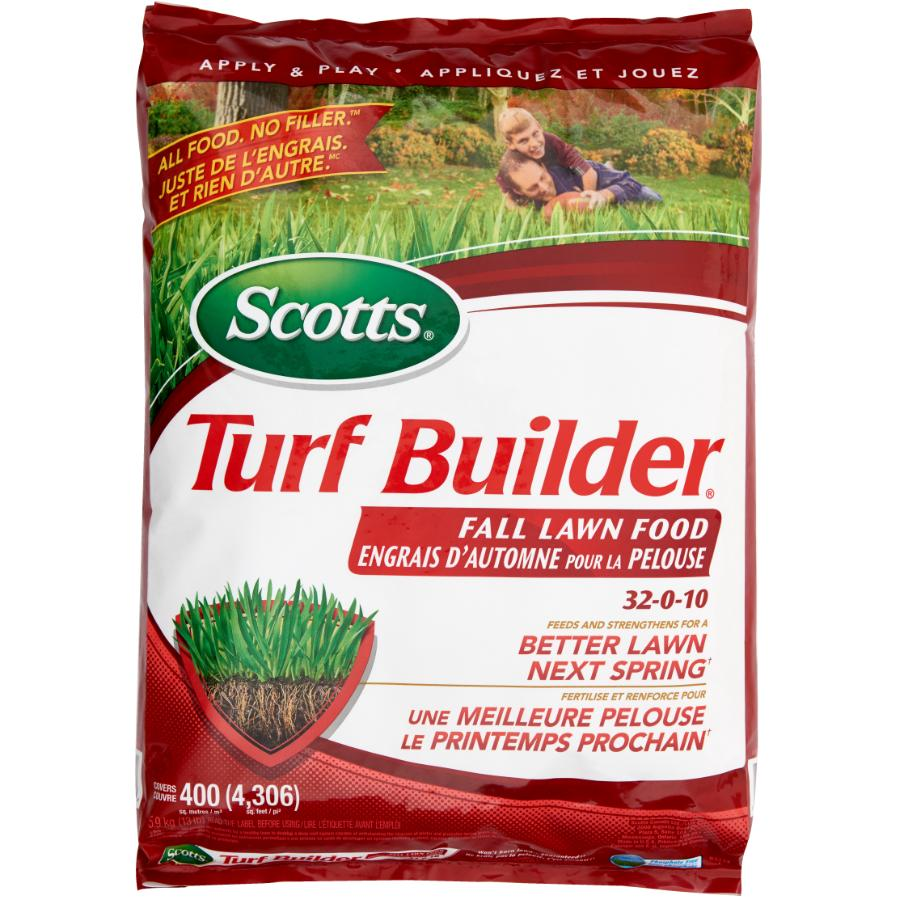 Scotts: 32-0-10 Fall Fertilizer, covers 400 square meters