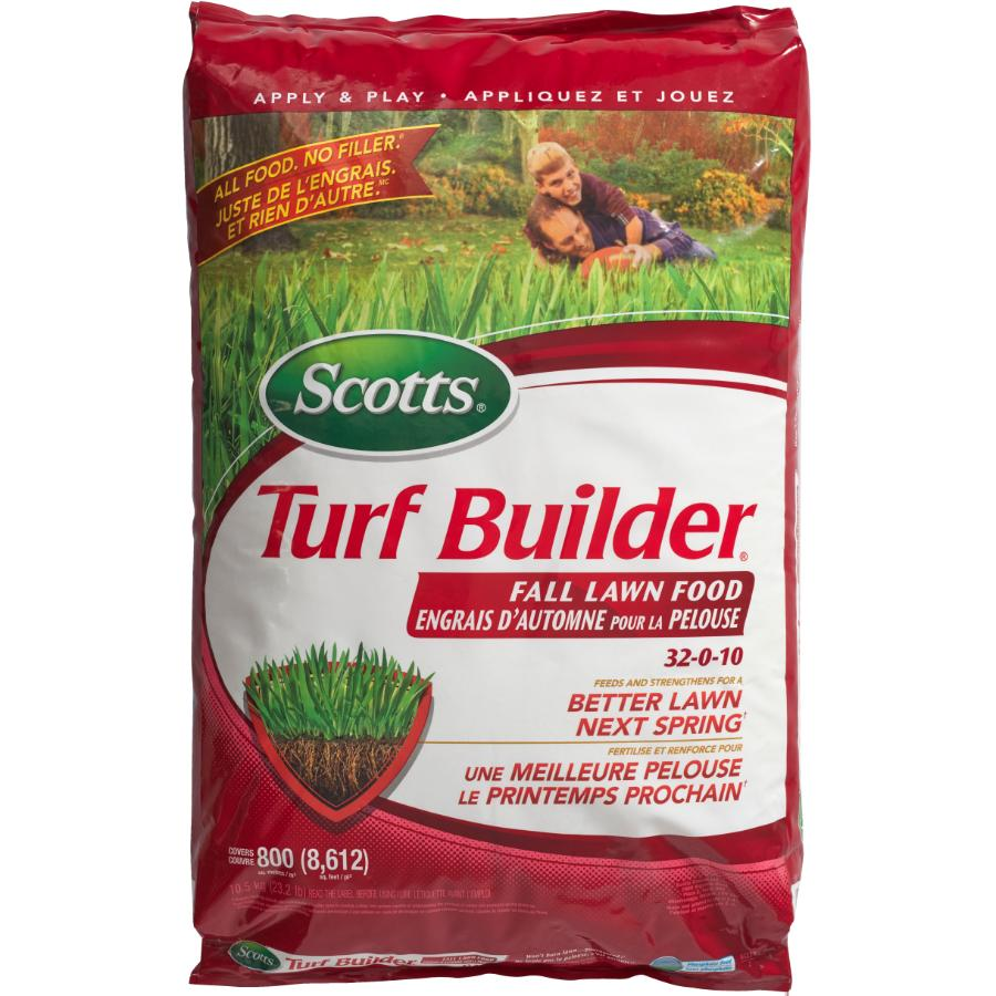 Scotts: 32-0-10 Turf Builder Fall Fertilizer, covers 800 square meters