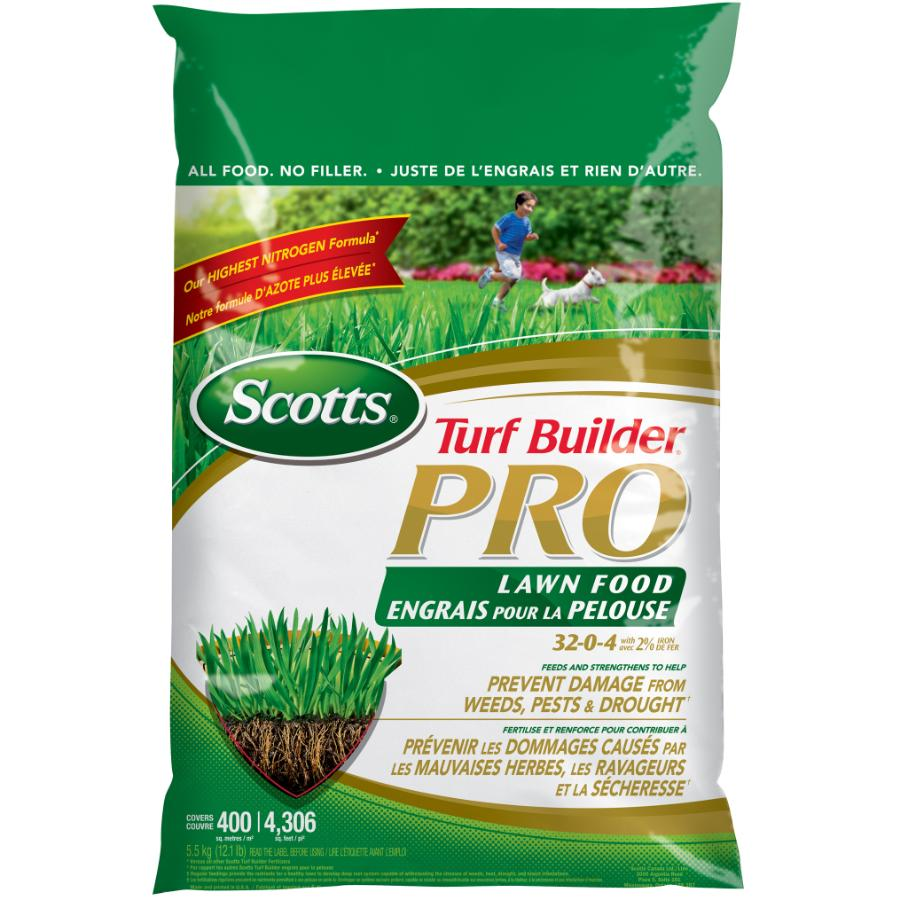 Scotts: 32-0-4 Turf Builder Pro Lawn Fertilizer, covers 400 square meters