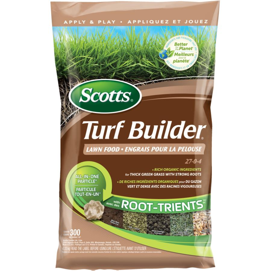 Scotts 27-0-4 Turf Builder Lawn Fertilizer, covers 300 square meters