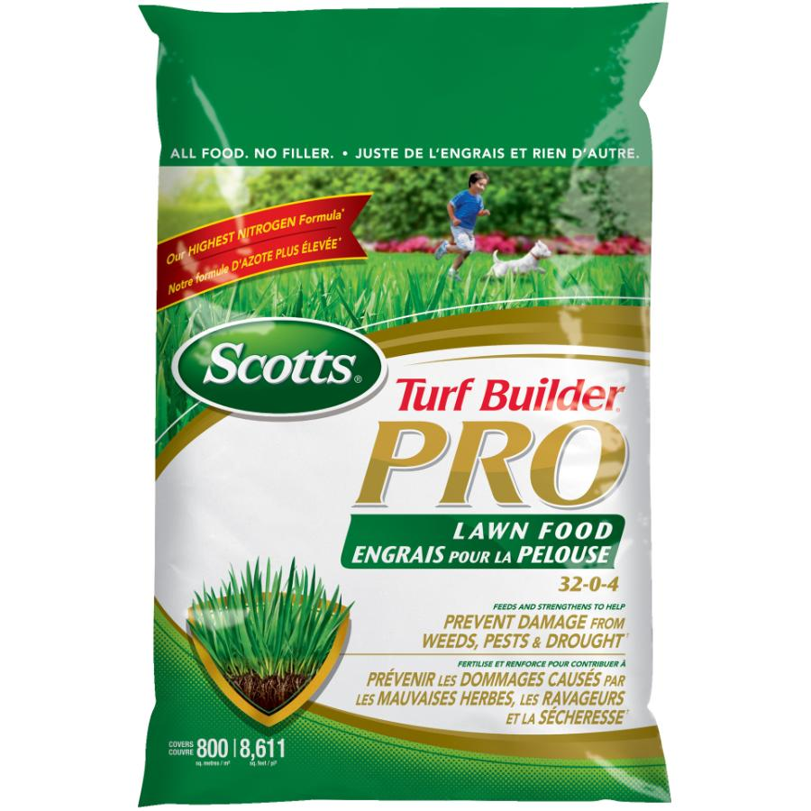Scotts: 32-0-4 Turf Builder Pro Lawn Fertilizer, covers 800 square meters