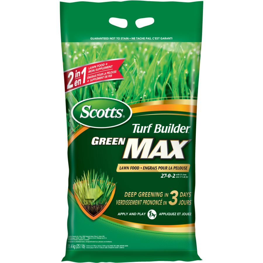 Scotts 27-0-2 Turf Builder Green Max Lawn Fertilizer, covers 700 square meters