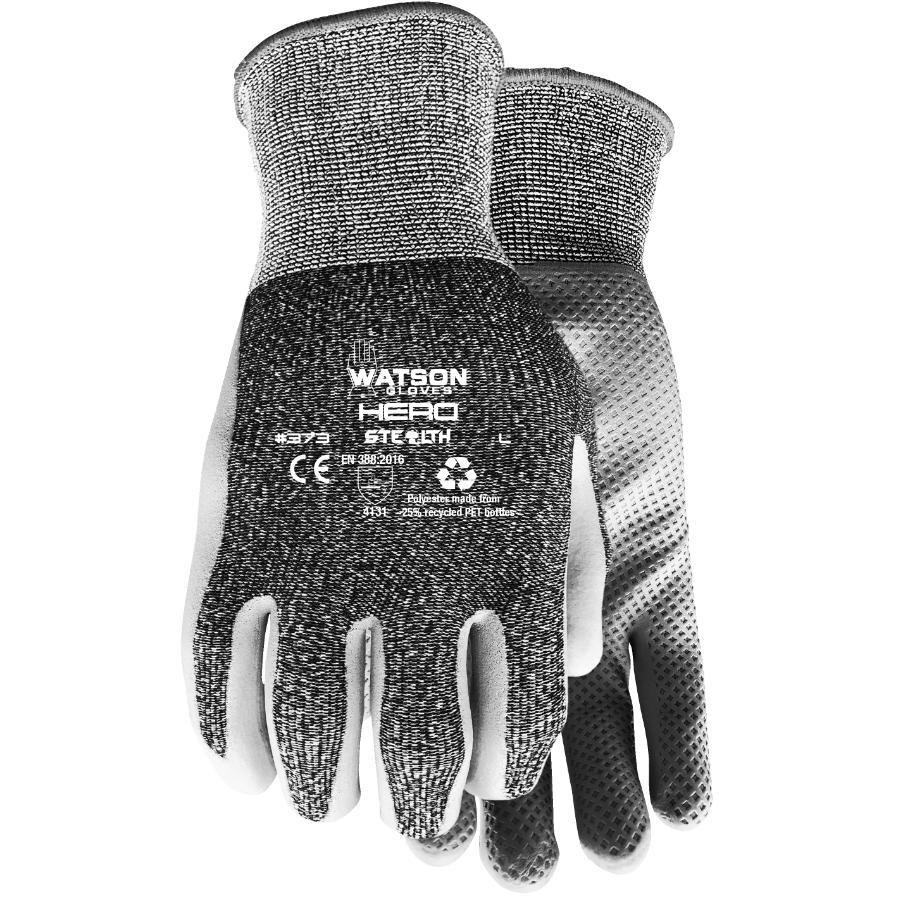 Watson Gloves Men's Hero Garden Gloves - with Foam Nitrile Palms, Large