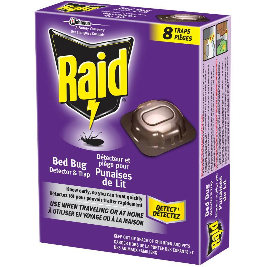 Raid 8 Pack Bed Bug Detection Traps