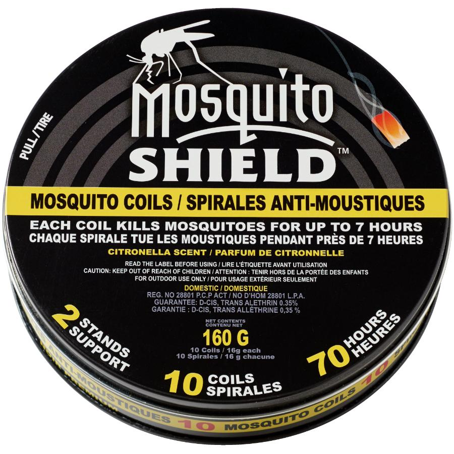 Mosquito Shield 10 Pack 7 Hour Mosquito Coils, with Two Stands
