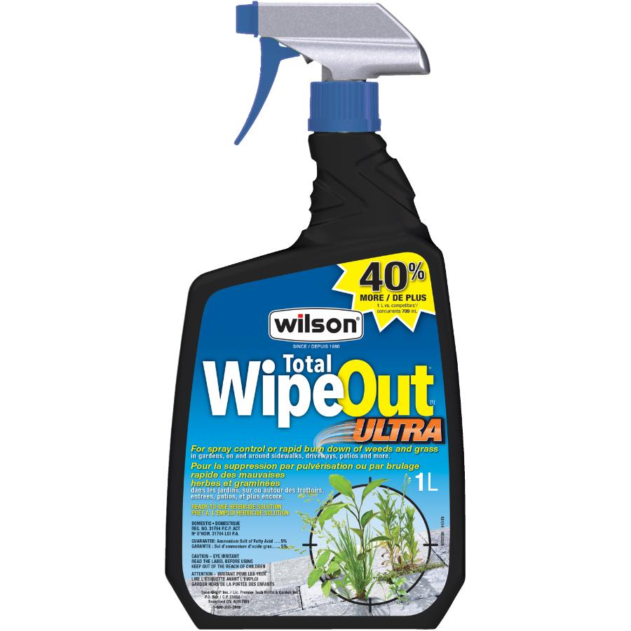 Wilson 1L Ready to Use Wipe Out Ultra Weed and Grass Killer Herbicide