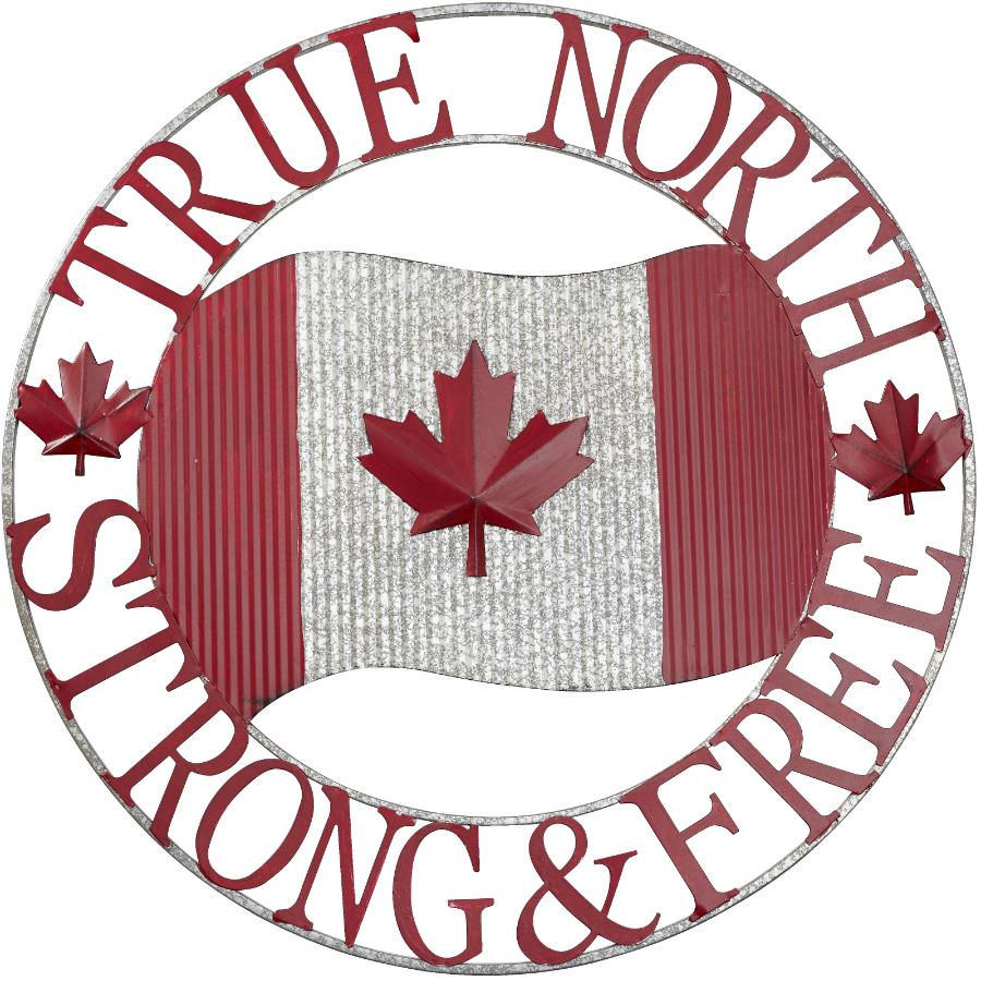 """Koppers Home 27"""" Canada True North Strong and Free Wall Ornament"""