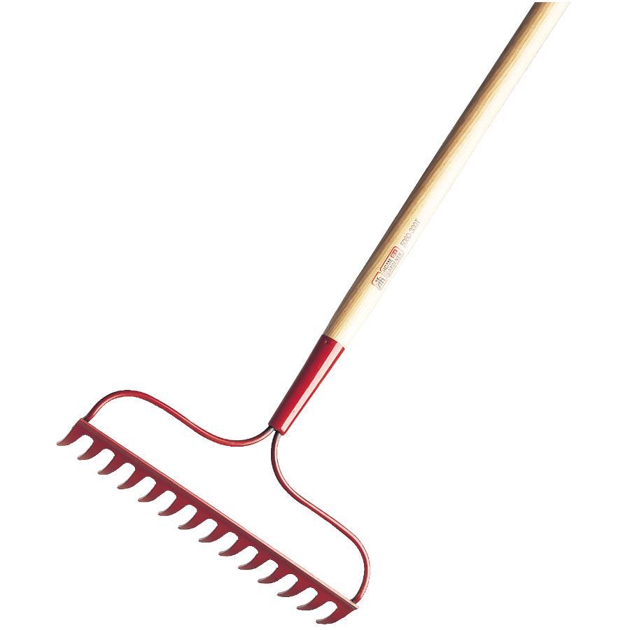"Home Gardener 14 Tines Bow Rake, with 54"" Handle"